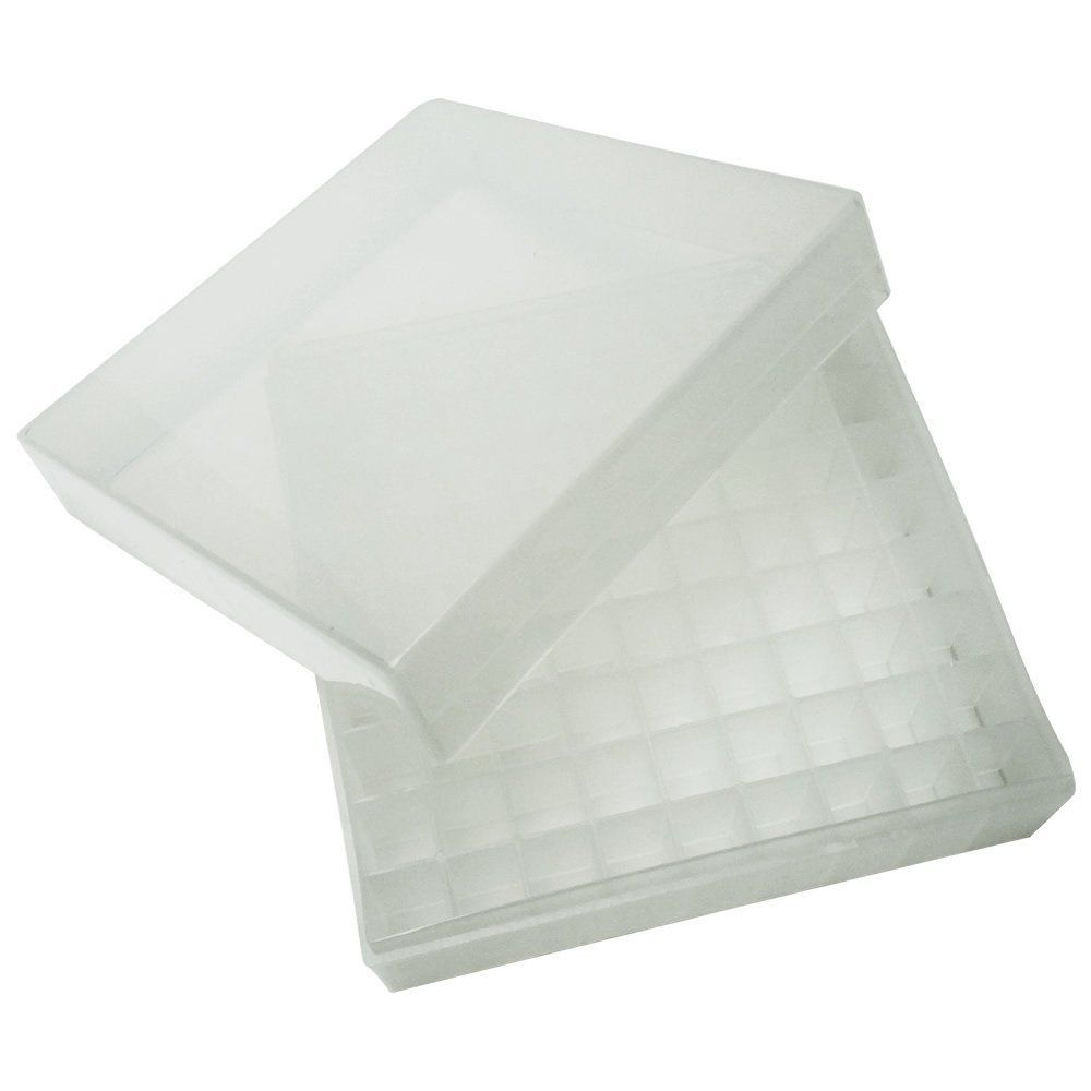 Caixa em Polipropileno (Criobox) para 81 Tubos de 1,5 - 2,0mL com Tampa Destacável