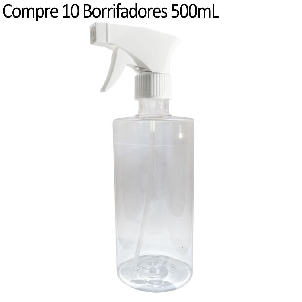 Compre 10 Borrifadores com gatilho (Pulverizador) em Plástico 500mL