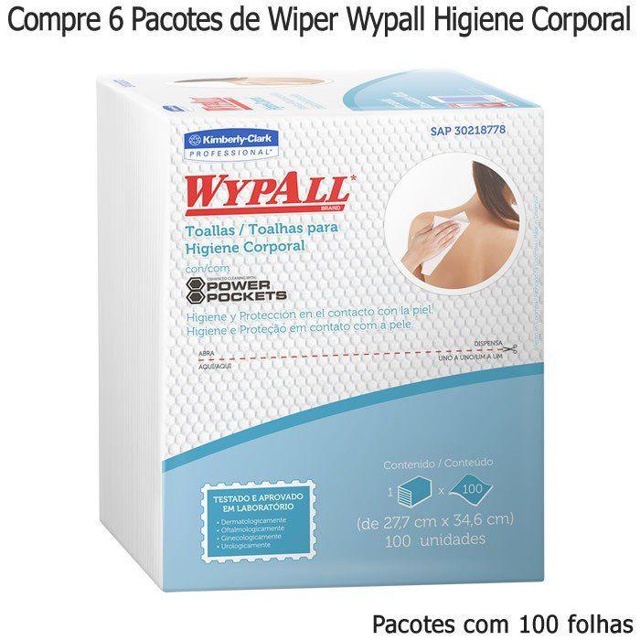 Compre 6 Pacotes de Wiper Wypall X60 Higiene Corporal Pacotes com 100 panos