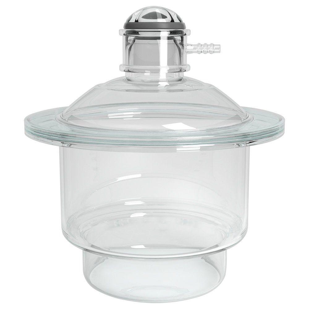 Dessecador em Vidro com Tampa e Luva SEM Placa de Porcelana Marca Uniglas