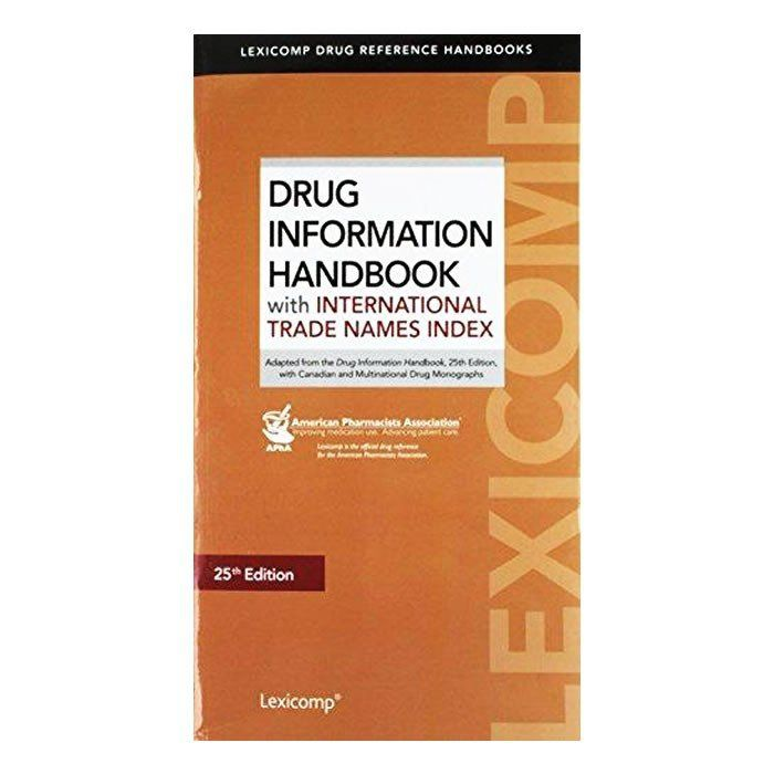 Livro - Drug Information Handbook With International Trade Names Index 25ª edition