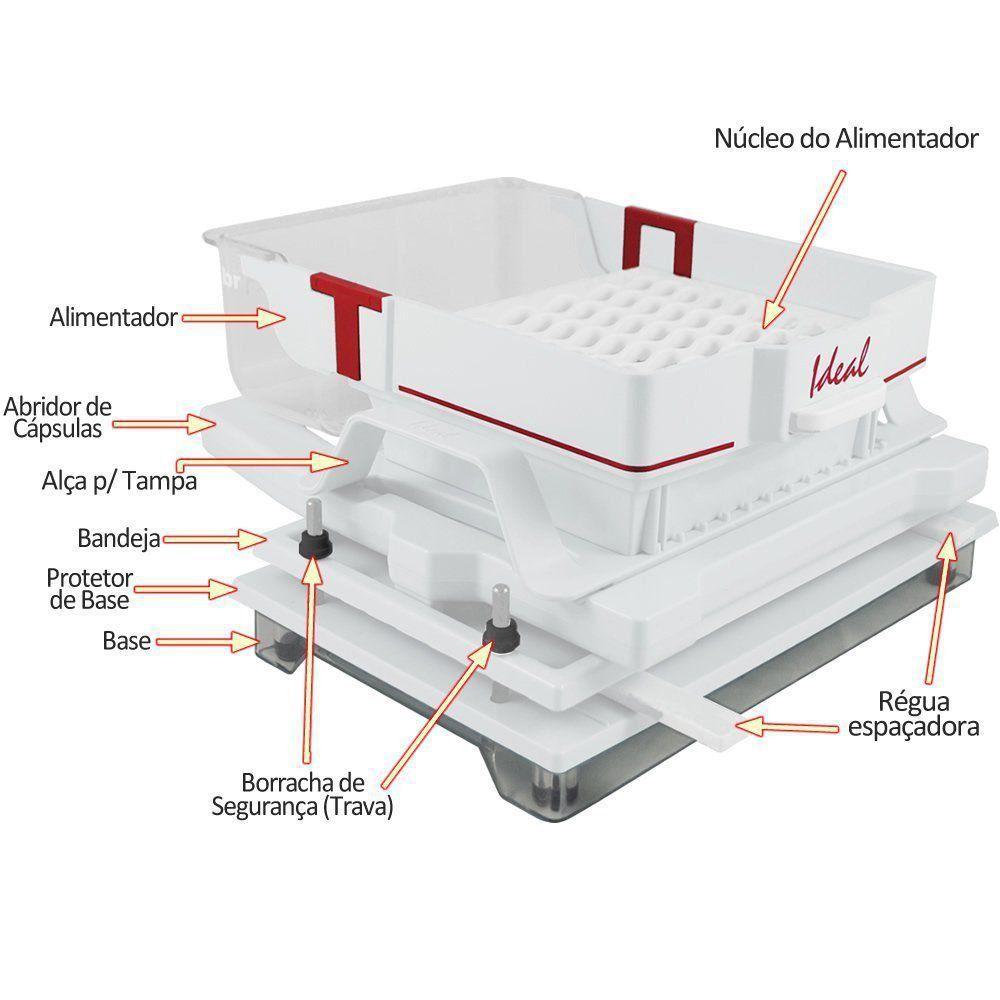 Encapsuladora Semi- Automática Color Plus Branca 120 Furos