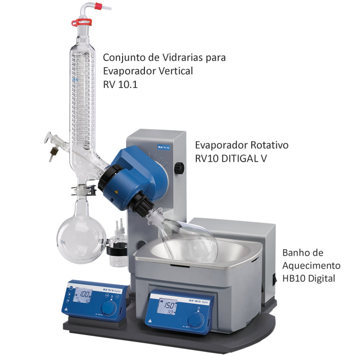 Evaporador Rotativo 1000mL 230V Ref. RV10 DIGITAL V