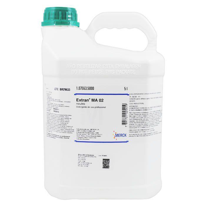 Detergente de Uso Profissional Extran MA02 Neutro Merck - Embalagem 5 Litros