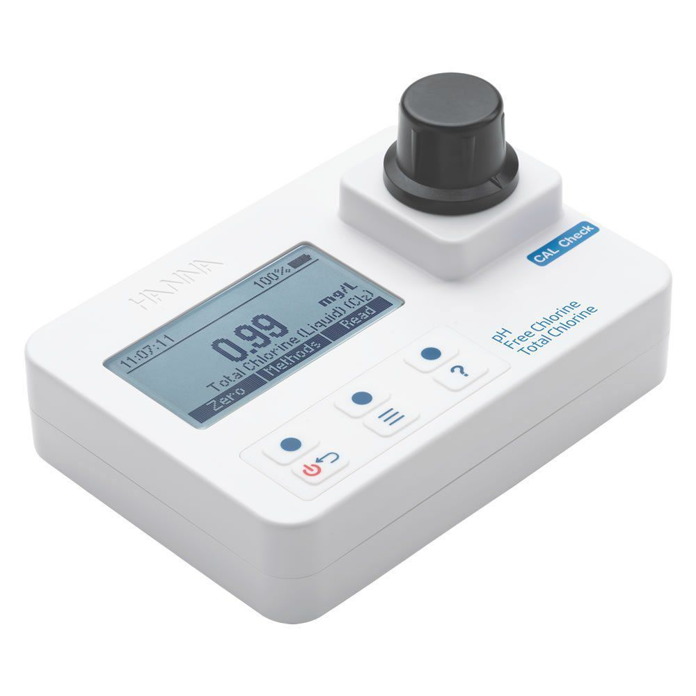 Fotometro Portátil Medidor de Cloro Livre, Total e pH Ref. HI 97710C