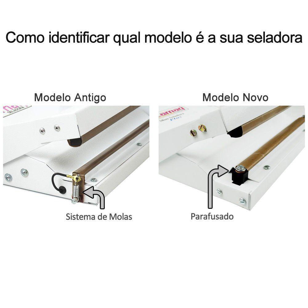 Kit Reparo (Resistência + Teflon) para Seladora Mini Plus 200 - 20cm (MODELO NOVO)