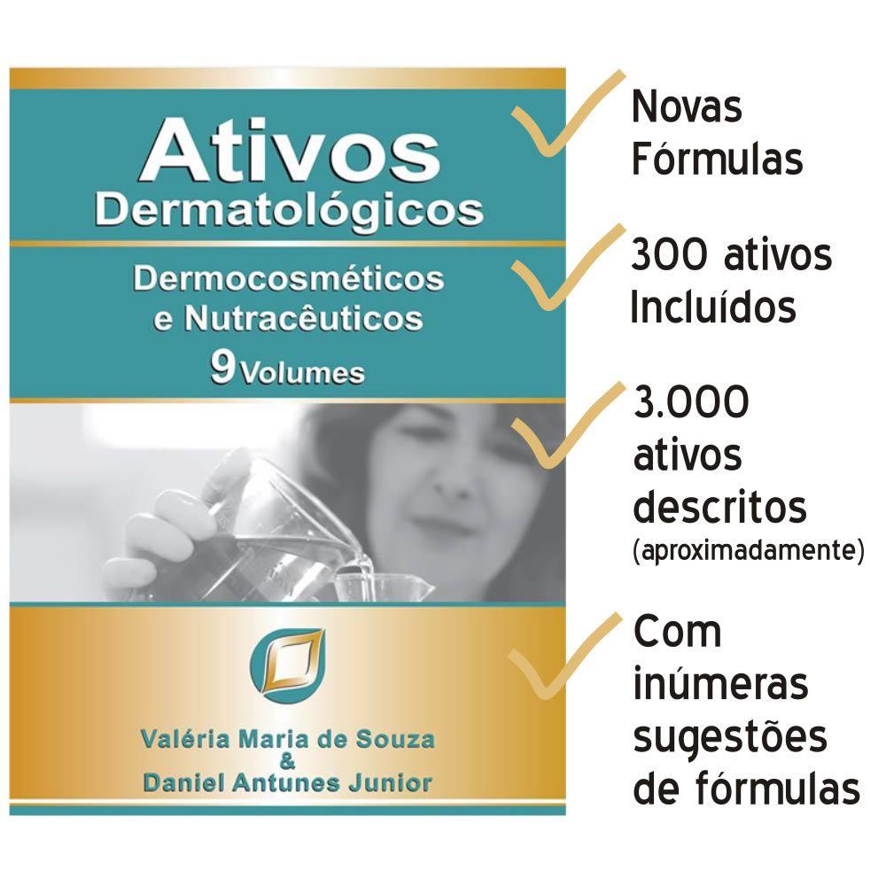 Livro - Ativos Dermatológicos: Dermocosméticos e Nutracêuticos 1 ao 9 Volumes 2ª Edição Ano 2020