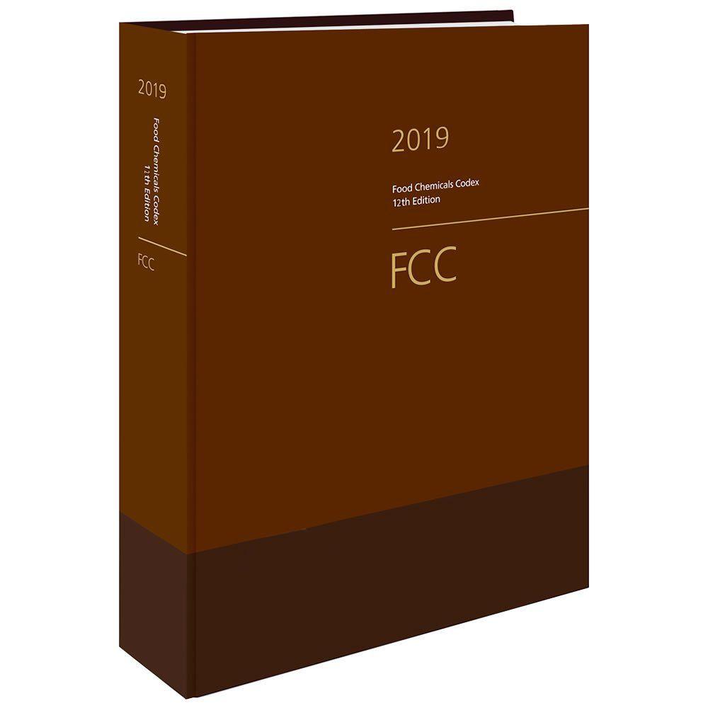 Livro - Food Chemicals Codex (FCC) 12ª Edição 2019