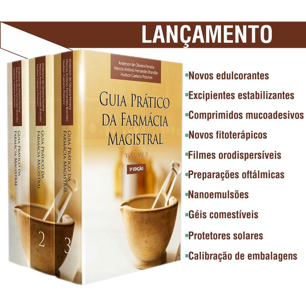 Livro - Guia Prático da Farmácia Magistral 5ª edição em 3 volumes