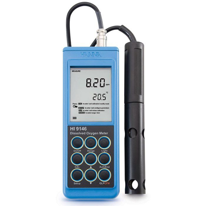 Medidor de Oxigênio Dissolvido e Temperatura Ref. HI 9146-04