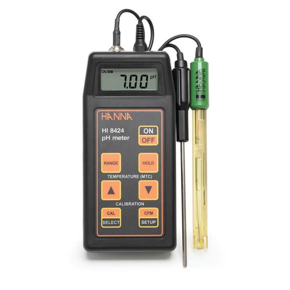Medidor de pH, MV, ORP* e ºC Portátil Ref. HI8424