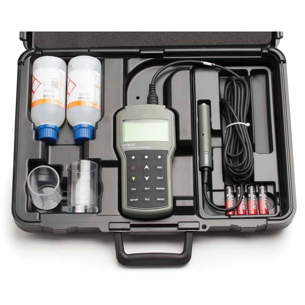 Medidor Multiparâmetro de Bancada de EC/TDS/Resistividade/Salinidade Ref. HI 98192