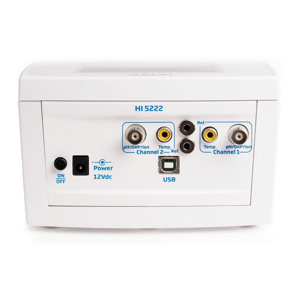 Medidor Multiparâmetro de Bancada de pH, MV e ISE e ºC Ref. HI5222-02