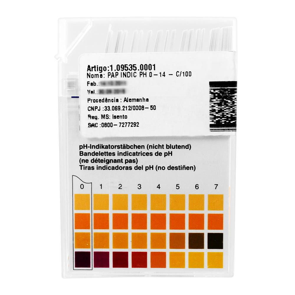 Papel Indicador de pH (0-14) Merck