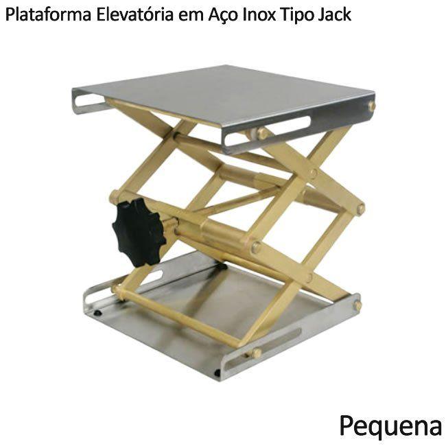 Plataforma Elevatória em Aço Inox Tipo Jack Pequena Ref. 453-1