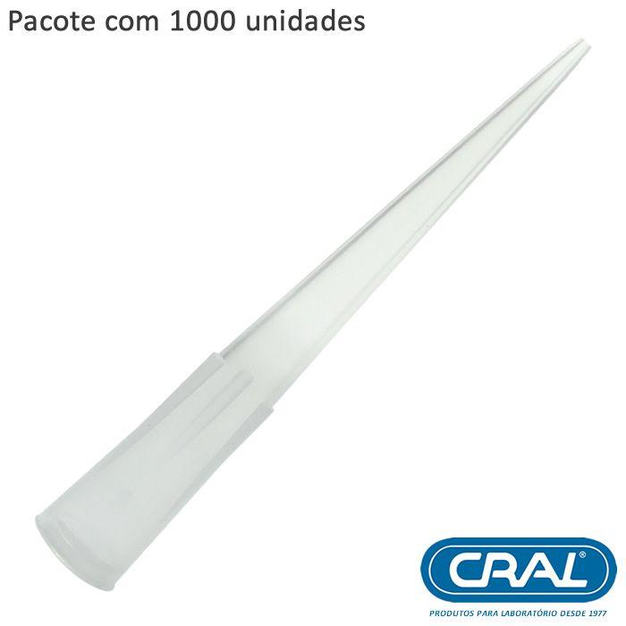 Ponteira Incolor 0-200ul Tipo MLA