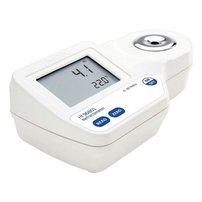 Refratômetro Digital Portátil para Medição de Açúcar 0-85% (Brix) Ref. HI 96801