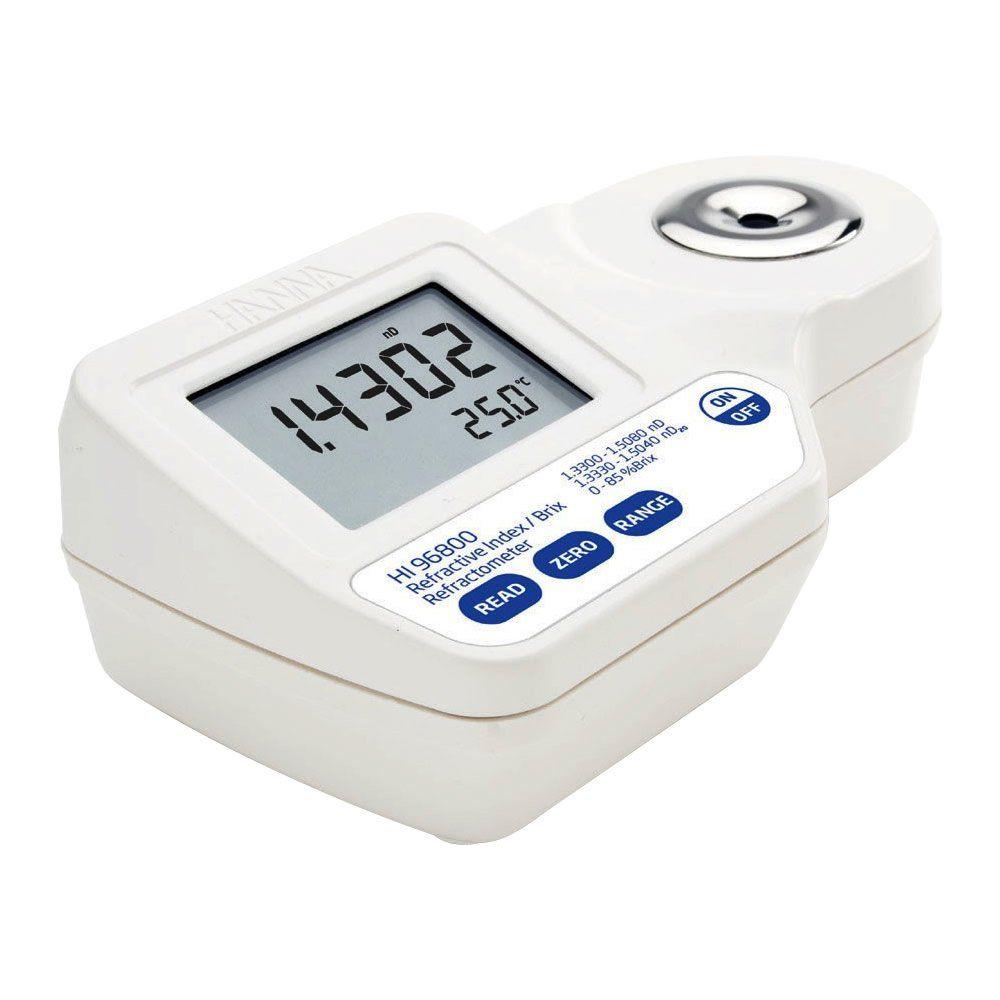 Refratômetro Digital Portátil para Medição de Açúcar nD20 0-85% (Brix) Ref. HI 96800