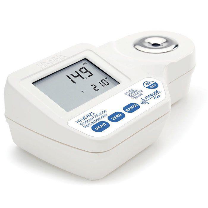 Refratômetro Digital Portátil para Medição de Cloreto de Sódio Ref. HI 96821