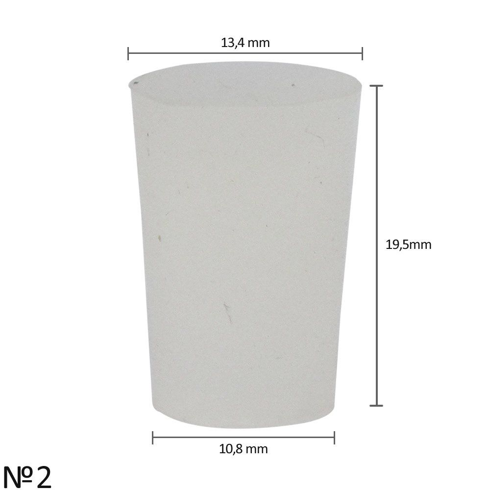 Rolha de Silicone Nº2 (13,4 x 10,8 x 19,5 mm)