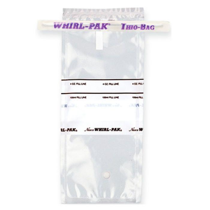 Saco para Amostragem Nasco com Tarja de Identificação e Tiossulfato de Sódio 100mL Ref. B01040WA