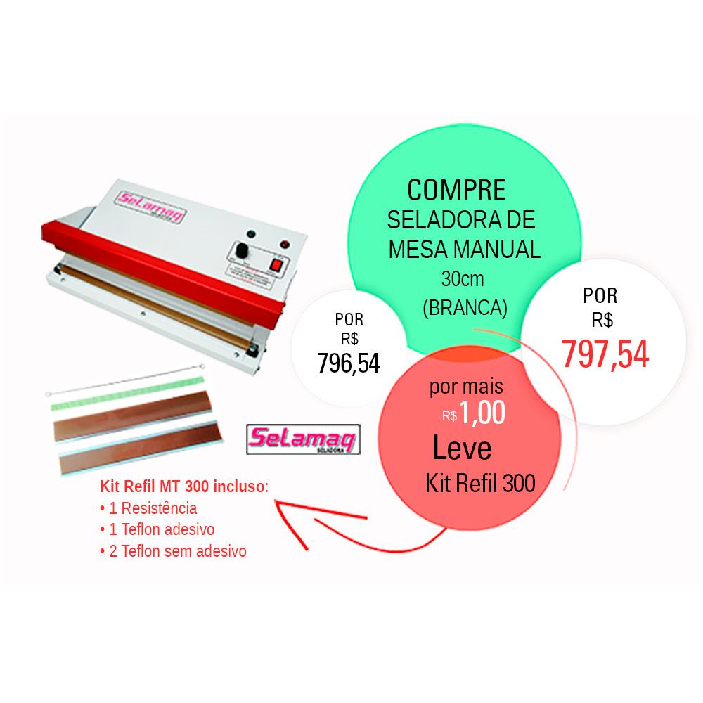 Seladora de Mesa Manual 30cm + Kit Reparo MT300