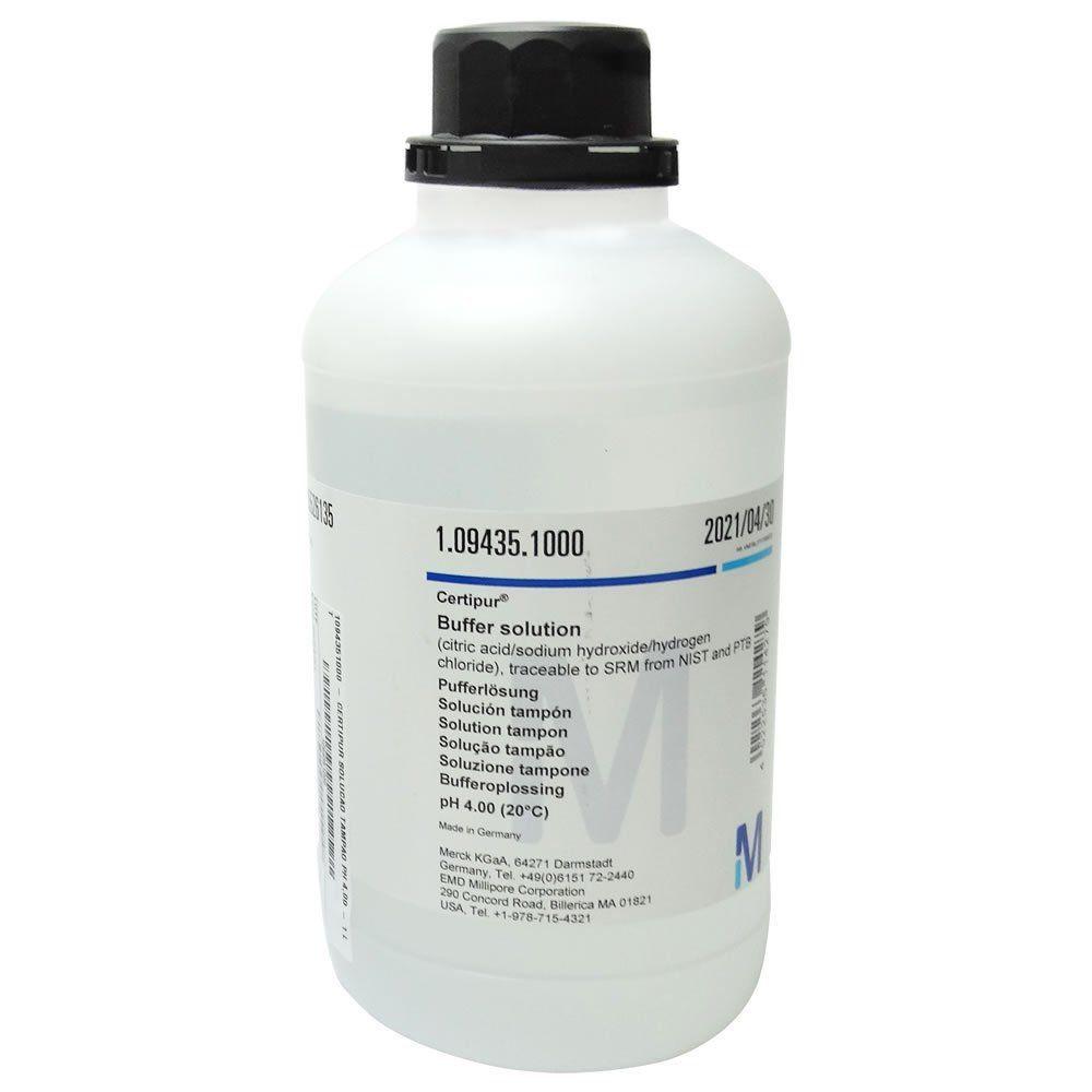 Solução Tampão pH 4,00 Buffer (Certipur) 1000mL Ref. 1094351000
