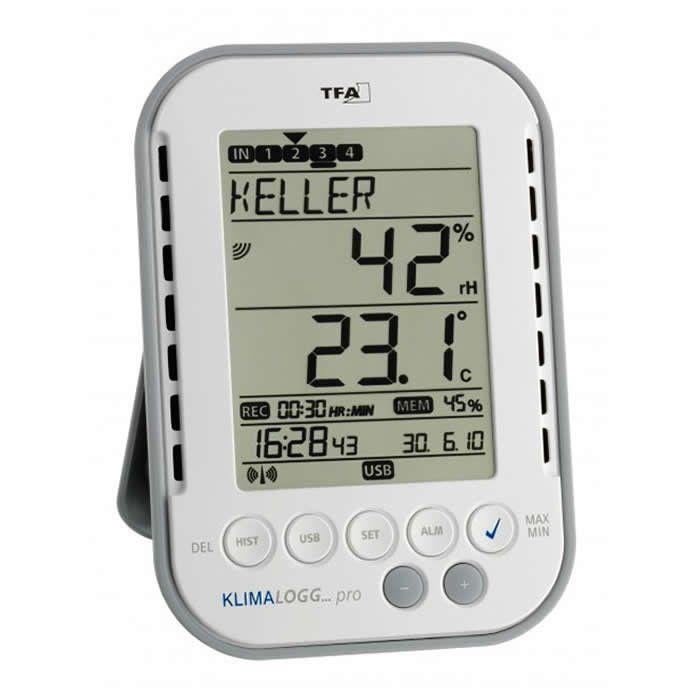 Termohigrômetro com Data Logger KlimaLogg Pro -20+60ºC - 1% à 99% UR