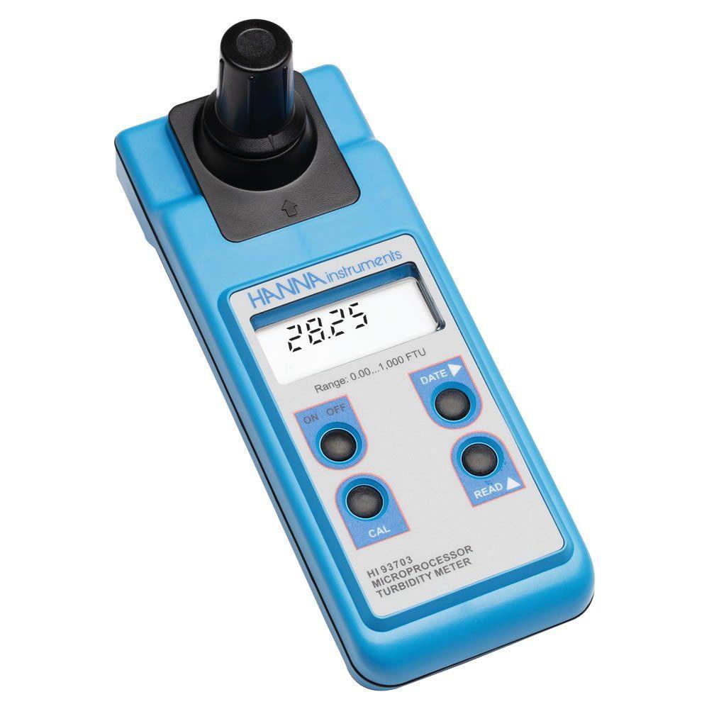 Turbidímetro Portátil 0-50.00/50-1000 FTU ISO 7027 Ref. HI 93703C