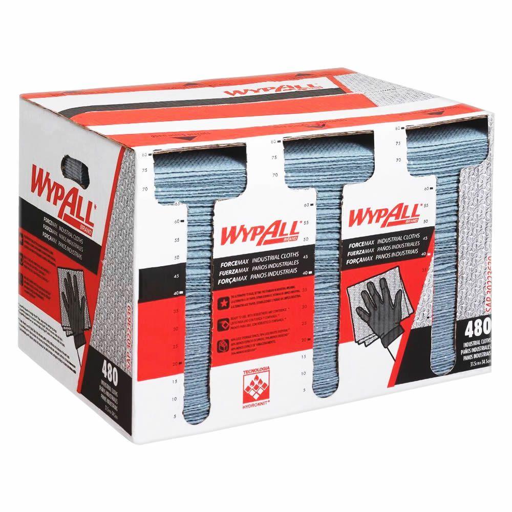 Wiper Wypall Força Max Limpeza Pesada (33,5x34,5cm) Caixa com 480 panos