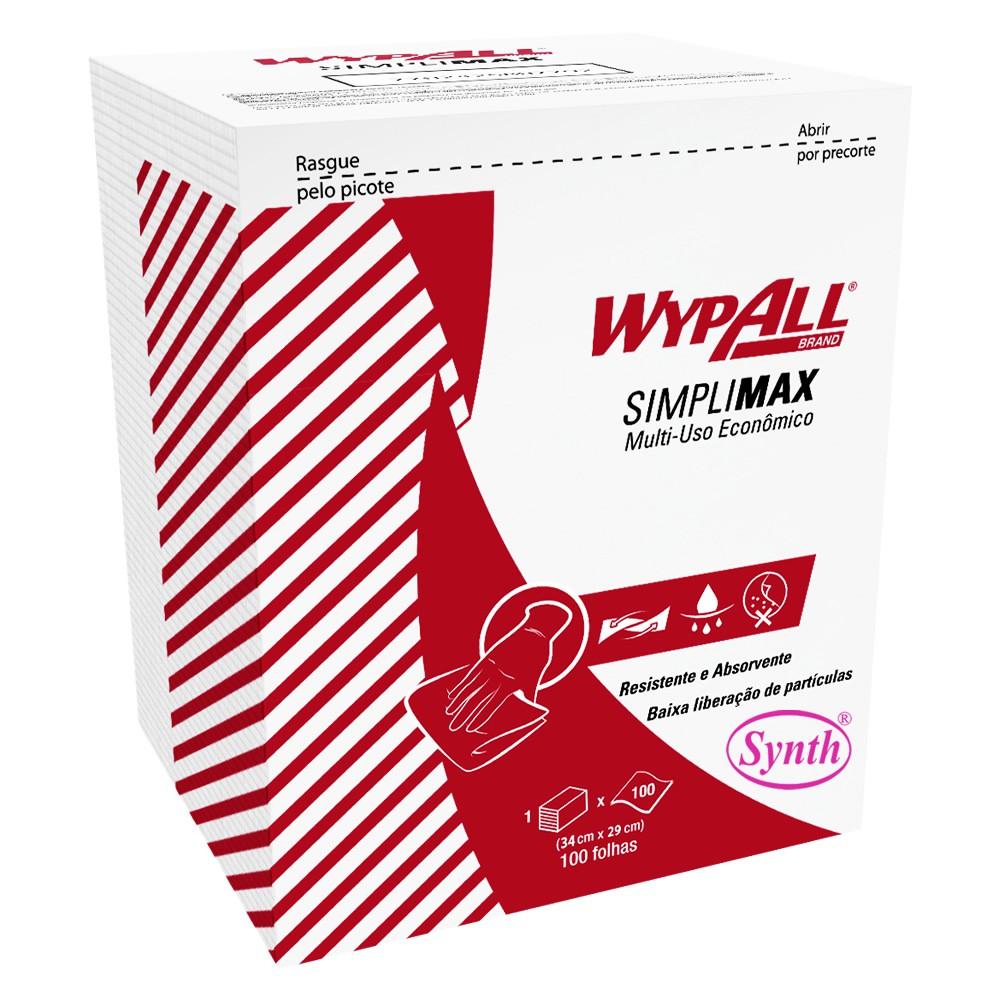 Wiper Wypall X50 Simplimax Branco (34x29cm) Pacote com 100 panos