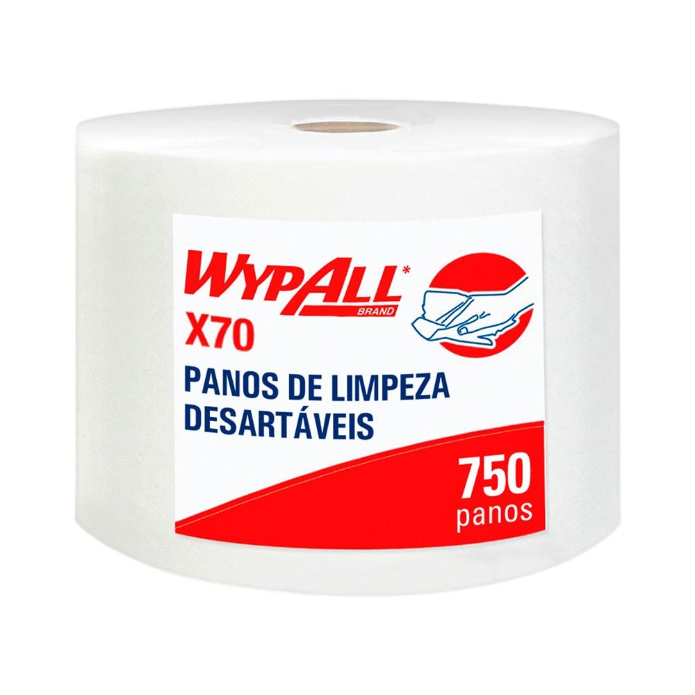 Wiper Wypall X70 Branco Jumbo Roll - Rolo com 750 panos