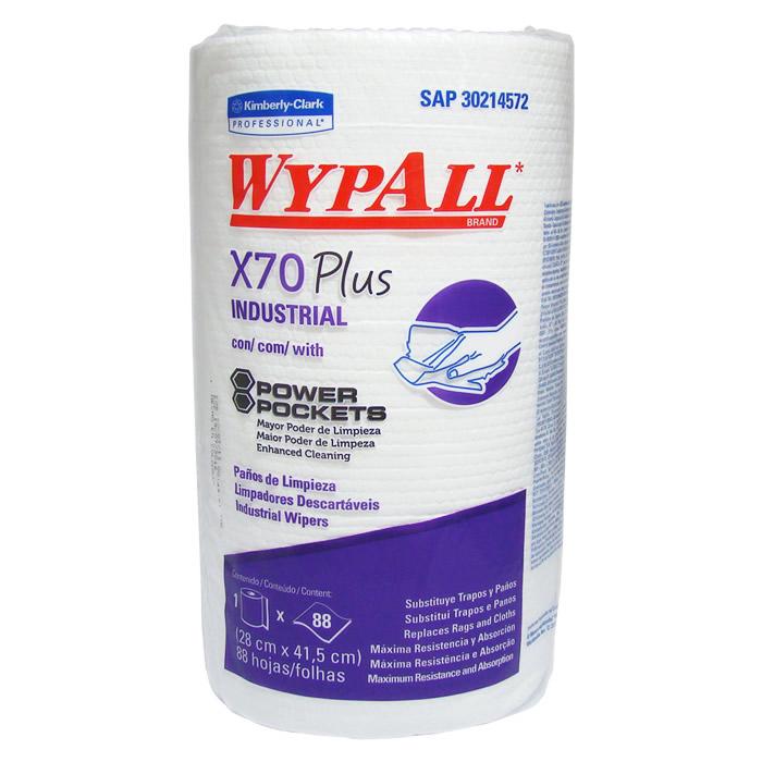 Wiper Wypall X70 Plus (28x41,5cm) Rolo com 88 panos