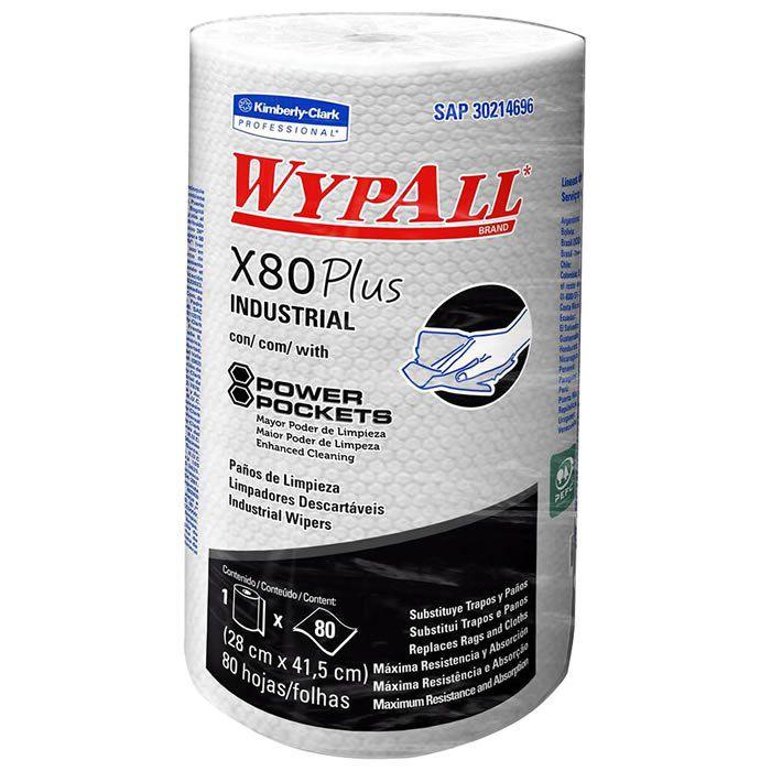 Wiper Wypall X80 Plus (28x41,5cm) Rolo com 80 panos
