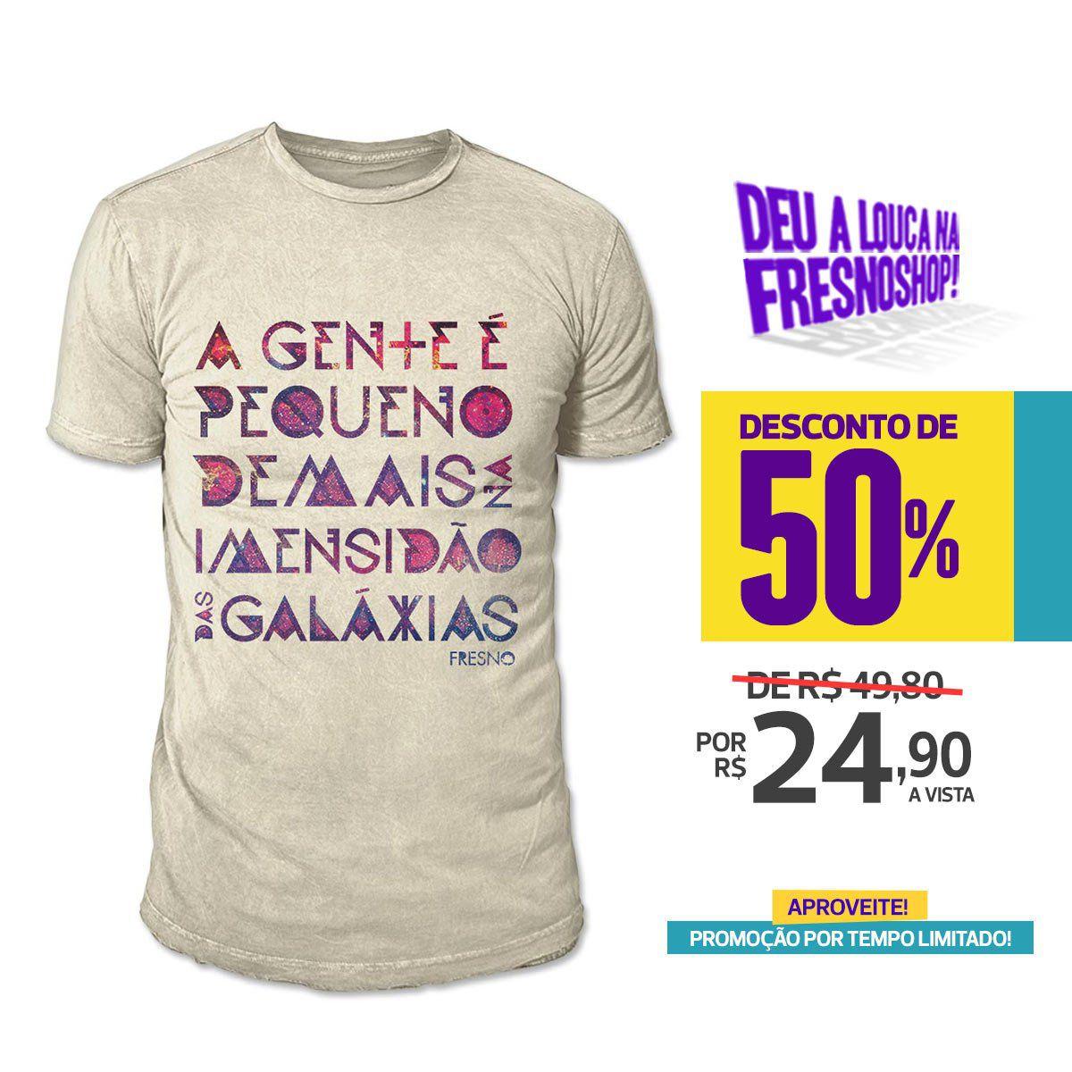 SUPER PROMOÇÃO Fresno - Camiseta Masculina Galáxias BISCUITE