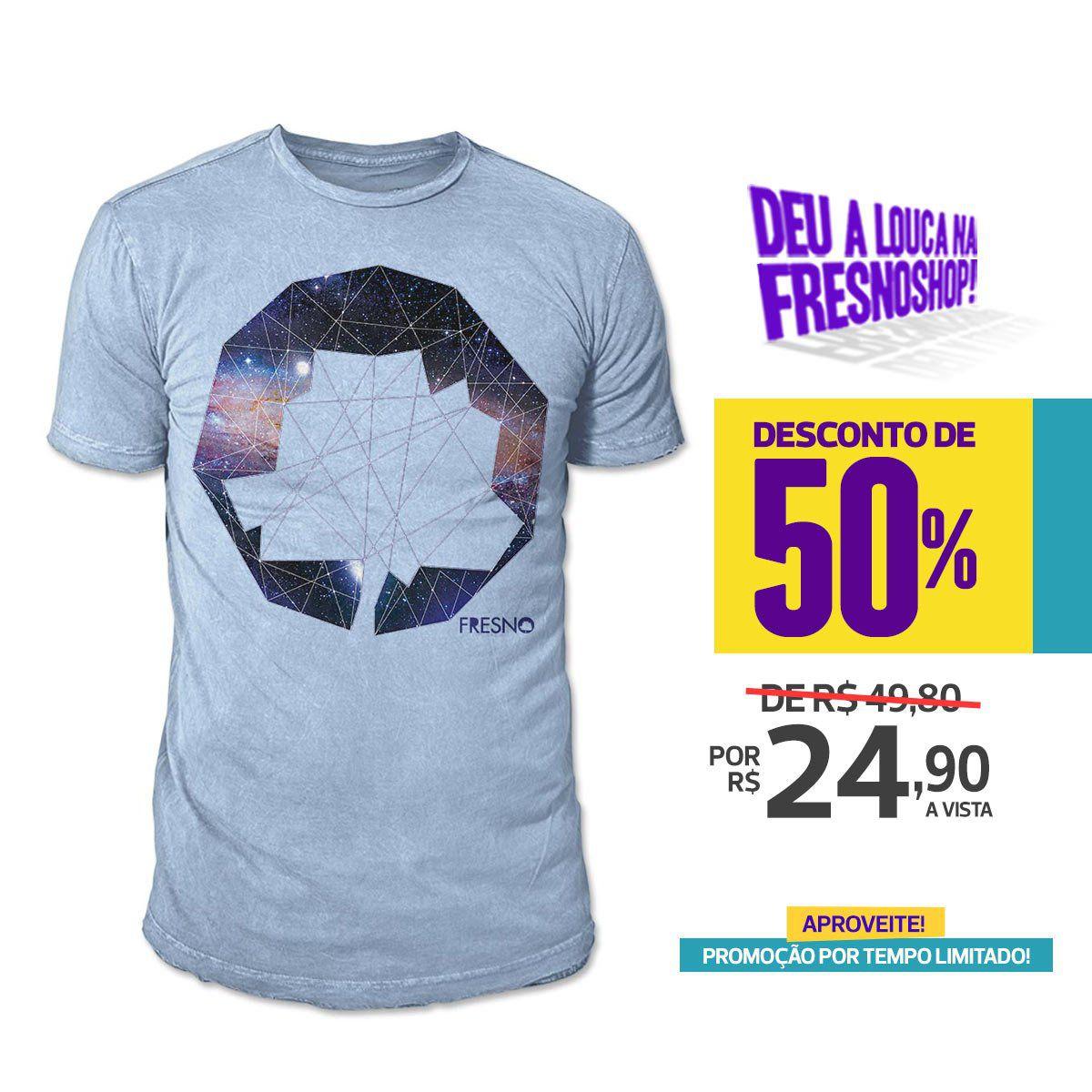 SUPER PROMOÇÃO Fresno - Camiseta Masculina Logo Galáxias PAZ