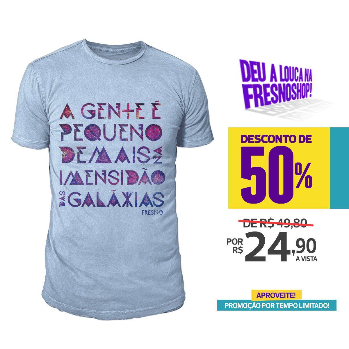 SUPER PROMOÇÃO Fresno - Camiseta Masculina Galáxias PAZ