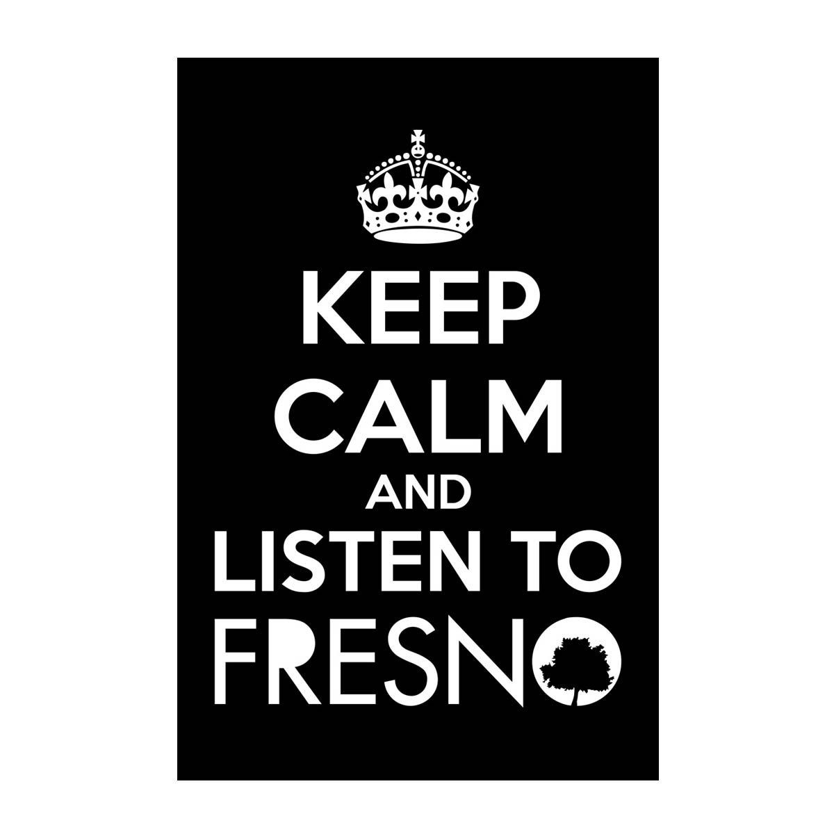 Pôster Fresno - Keep Calm Black
