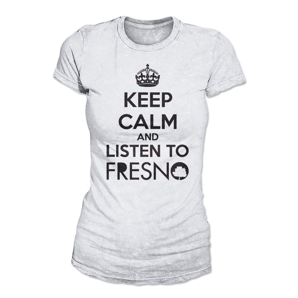 Camiseta Feminina Fresno - Keep Calm White