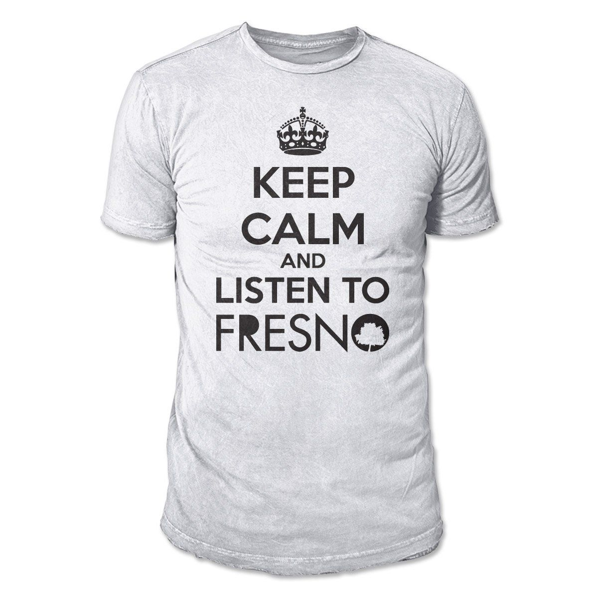 Camiseta Masculina Fresno - Keep Calm White