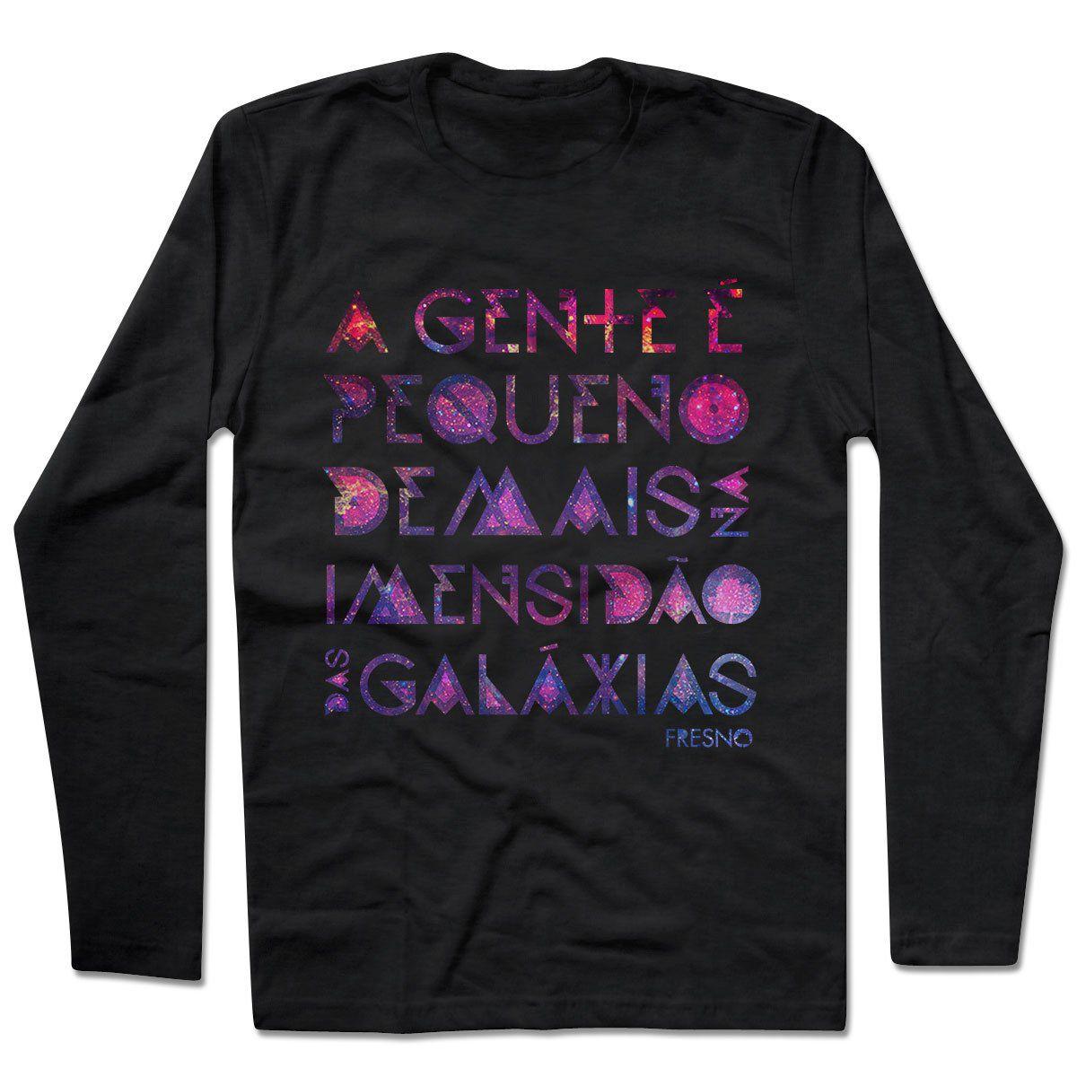 Camiseta Manga Longa Fresno - Galáxias Preta