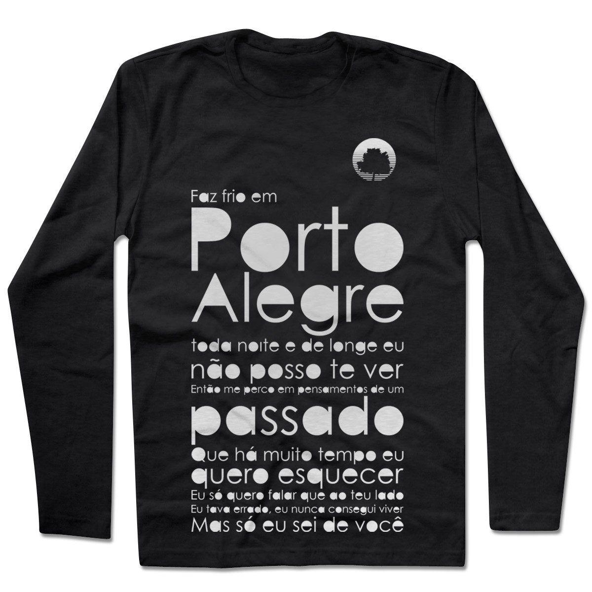 Camiseta Manga Longa Fresno - Porto Alegre Preta
