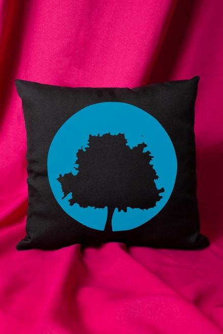 Almofada Fresno Ciano 15 Anos - Logo Árvore