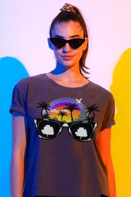 Camiseta Box Feminina Fresno Verão Óculos
