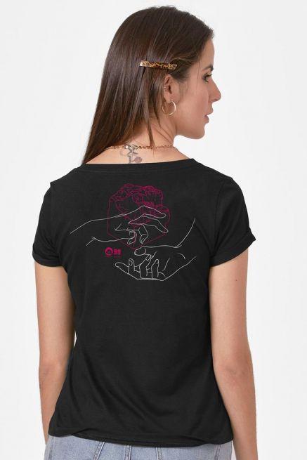 Camiseta Feminina Fresno 20 Anos A Sinfonia de Tudo que há Mãos