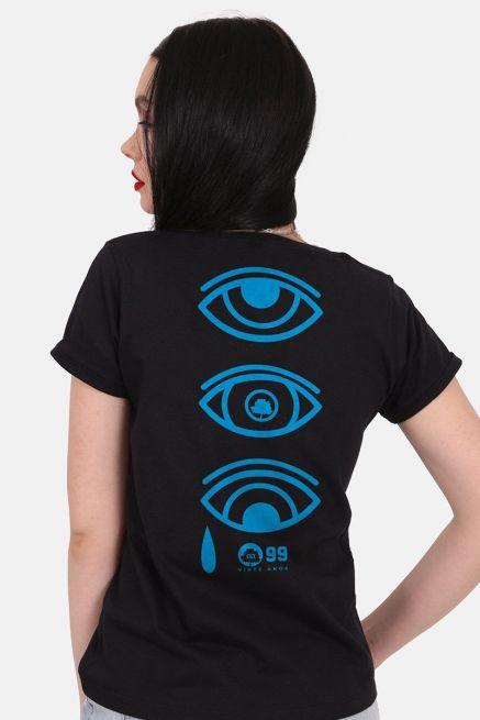 Camiseta Feminina Fresno 20 Anos Ciano Olhos