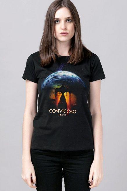 Camiseta Feminina Fresno Convicção Pôster