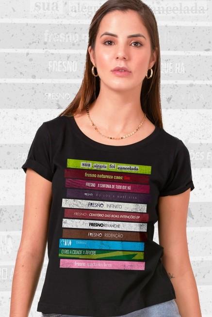 Camiseta Feminina Fresno Discografia