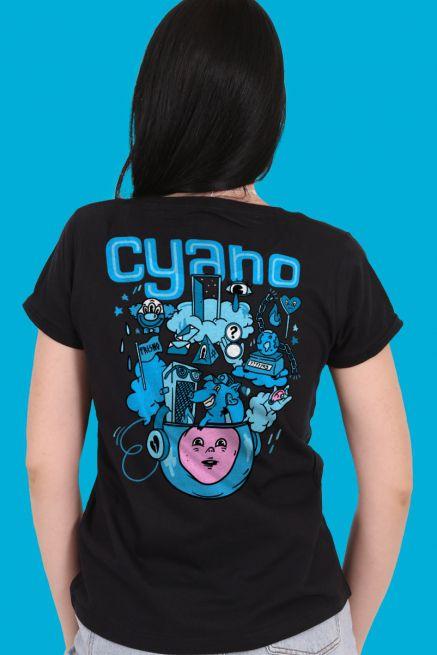 Camiseta Feminina Fresno Festival de Música Ciano