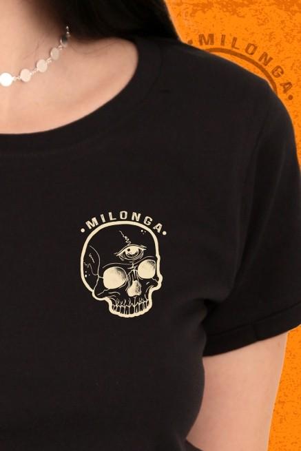 Camiseta Feminina Fresno Milonga Caveira